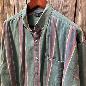 Santana Vtg 90's Stripe Shirt L